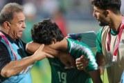 """دموع لاعب عراقي تشعل مواقع التواصل بعد إضاعته ركلة جزاء تسببت بخروج بلاده من """"خليجي 24"""""""