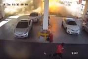 مشهد مروّع لانفجار خزان وقود داخل إحدى المحطات بالمدينة المنورة