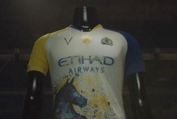 """النصر يكشف عن القميص الثالث للفريق بعبارة """"فارس نجد"""" (فيديو)"""