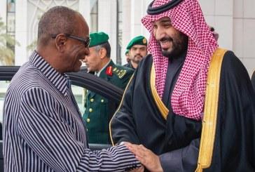 ولي العهد يستقبل رئيس جمهورية غينيا كوناكري (فيديو وصور)