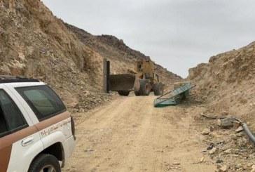 إزالة تعديات على أراضٍ حكومية بمساحة 41 ألف متر مربع في جدة
