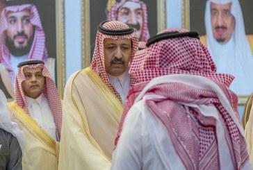 فيديو وصور.. أمير الباحة يستقبل المعزين في وفاة الأمير طلال بن سعود