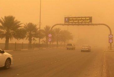 شاهد.. لحظة وصول موجة غبار شديدة إلى الرياض