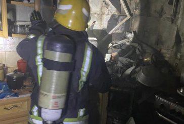 قدر كهربائي يتسبب في حريق أثناء الطهي والدفاع المدني يتدخل (صور)