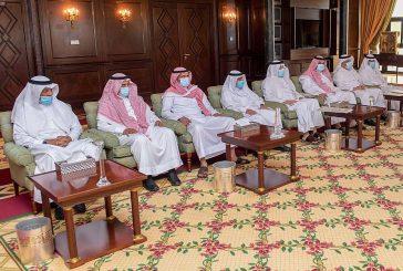سمو أمير منطقة تبوك يستقبل وكيل الإمارة والوكلاء المساعدين المهنئين بعيد الأضحى المبارك