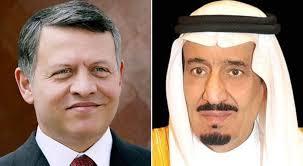 خادم الحرمين الشريفين يتلقى اتصالاً هاتفياً من ملك الأردن