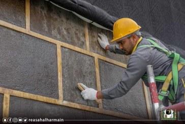 بالصور.. إجراء الصيانة الدورية للكعبة المشرفة بعد انتهاء موسم الحج