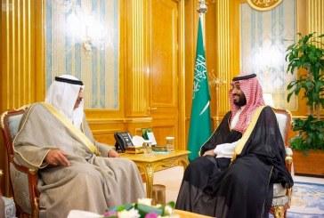 بالصور.. ولي العهد يلتقي نائب رئيس مجلس الوزراء الكويتي ووزير الشؤون الخارجية الموريتاني