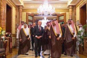 خادم الحرمين يستقبل الرئيس السويسري ويقيم مأدبة غداء تكريماً له
