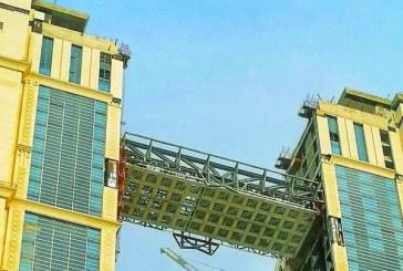 صور.. بدء العمل في تنفيذ أعلى مسجد معلق في العالم بمكة المكرمة