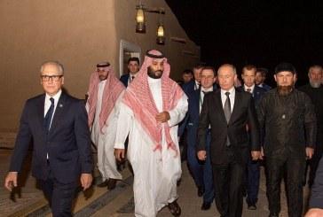 صور.. ولي العهد يصطحب بوتين في جولة بحي الطريف التاريخي في الدرعية