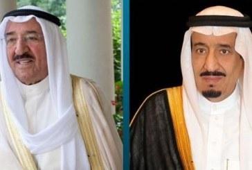 أمير الكويت يعزي خادم الحرمين في ضحايا أمطار حفر الباطن