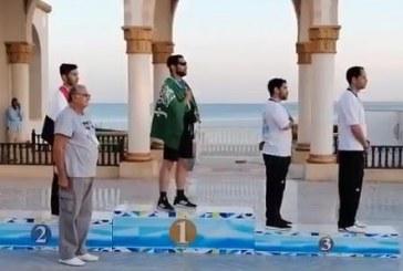 """لاعب المنتخب السعودي """"العباس"""" يحقق ذهبية العالم في التايكوندو"""