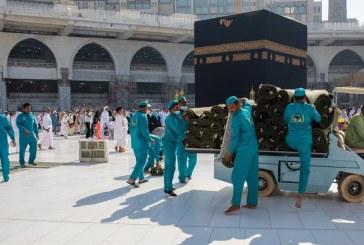 استبدال 1200 سجادة بصحن المطاف بالمسجد الحرام