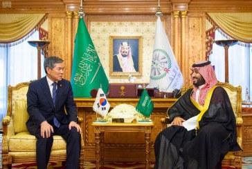 ولي العهد يستقبل وزير دفاع كوريا الجنوبية