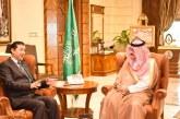الأمير مشعل بن ماجد يستقبل القنصل العام لجمهورية أفغانستان