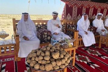 """الشيخ خليفة بن زايد يتفقد محمية """"غناظة"""""""