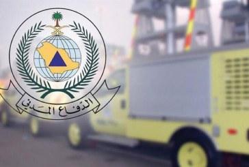 الدفاع المدني بجازان يدعو لأخذ الحيطة نتيجة التقلبات الجوية