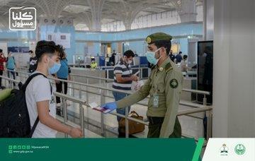 """""""الجوازات"""" تنهي إجراءات مغادرة رحلة إلى تركيا وعلى متنها 321 راكبًا"""