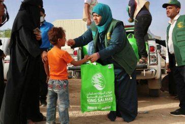 فريق مركز الملك سلمان للإغاثة يزور مخيم السويداء بمأرب لتوزيع كسوة العيد للأطفال الأيتام والنازحين بالمخيم