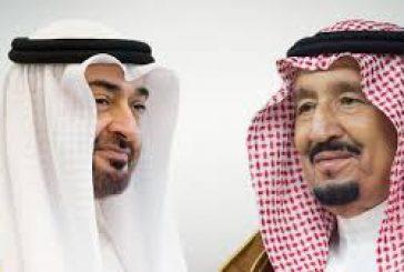 خادم الحرمين الشريفين يتلقى اتصالاً هاتفياً من ولي عهد أبوظبي