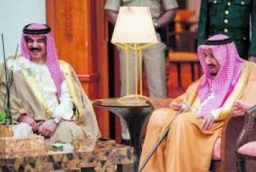 خادم الحرمين الشريفين يتلقى اتصالاً هاتفياً من ملك البحرين