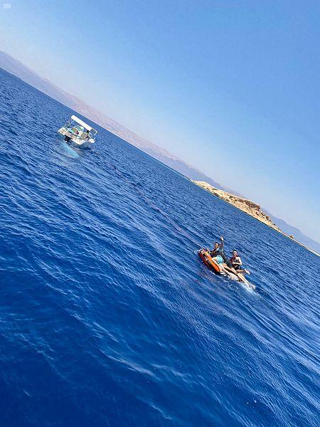 """انطلاق فعاليات مهرجان """"صيف حقل أحلى"""" للرياضات البحرية"""
