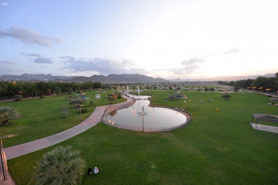متنزهات منطقة نجران وحدائقها تستقبل الأهالي والزوار خلال أيام عيد الأضحى المبارك