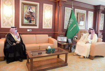 سمو نائب أمير منطقة جازان يستقبل محافظي الريث وهروب المكلفين