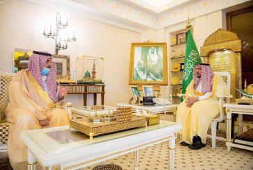 سمو الأمير فيصل بن مشعل يلتقي رئيس جامعة القصيم