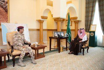 أمير منطقة مكة المكرمة وسمو نائبه يستقبلان قائد قوة الأمن الخاصة الثانية بالمنطقة