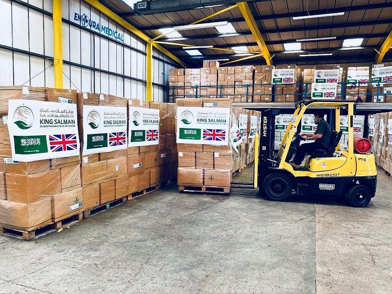 سفارة المملكة لدى المملكة المتحدة تسلّم الدفعة الثانية من هدية المملكة للحكومة البريطانية لمواجهة فيروس كورونا المستجد