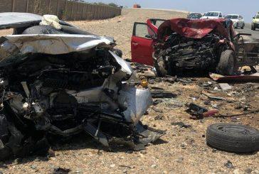 وفاة وإصابة 7 أشخاص في حادثة تصادم طريق الساحل