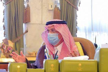 سمو أمير منطقة الرياض يستقبل مديري التعليم والنقل بالمنطقة