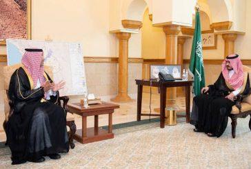 سمو الأمير بدر بن سلطان يستقبل مدير ميناء جدة الإسلامي المعين حديثاً