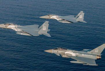القوات الجوية تُكمل استعداداتها للعروض الجوية في اليوم الوطني