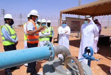 وزير البيئة والمياه والزراعة يتفقد سير العمل بعددٍ من مشاريع المياه المحلاة بالرياض