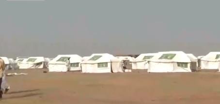 مركز الملك سلمان يأوي سكان قرية كاملة في السودان بعد أن غمرتها السيول