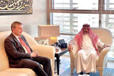 سفير المملكة لدى الأردن يستقبل المفوض العام للأونروا