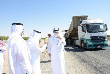 وزير النقل يتفقد طريق الرياض - الطائف ويقف على أعمال الصيانة الوقائية