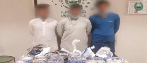 """شرطة دبي تقبض على عصابة دولية وتحبط ترويج 33 كجم """"كريستال"""" مخدر"""