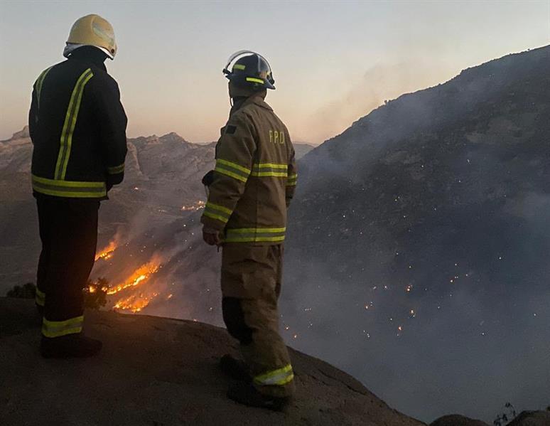 """القبض على 3 """"متسللين"""" لقيامهم بإضرام النار التي تسببت بحريق جبل غُلامه في تنومة"""