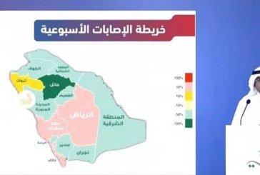 متحدث الصحة: آلية جديدة للإعلان عن إصابات كورونا في المملكة من خلال خريطة الإصابات الأسبوعية