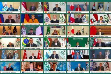 الصورة الجماعية لقادة مجموعة العشرين المشاركين في قمة الرياض