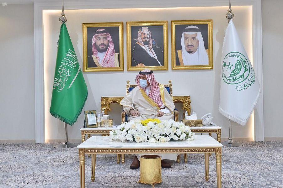 أمير نجران يستقبل قائد حرس الحدود بالمنطقة