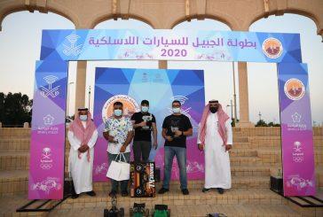 تتويج الفائزين في بطولة الجبيل للسيارات اللاسلكية