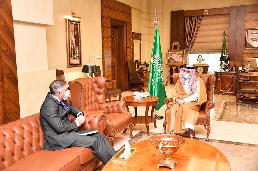 الأمير مشعل بن ماجد يستقبل رئيس مندوبية الاتحاد الأوروبي لدى المملكة