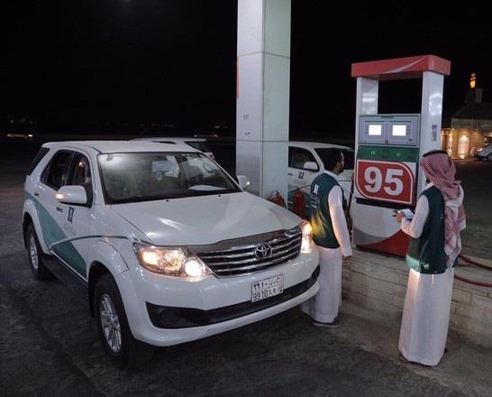 """""""التجارة"""" تشهر بمواطن صاحب محطة غش في معيار مضخات الوقود في مكة"""