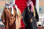 وصول ولي عهد مملكة البحرين إلى محافظة العلا والأمير محمد بن سلمان في مقدمة مستقبليه