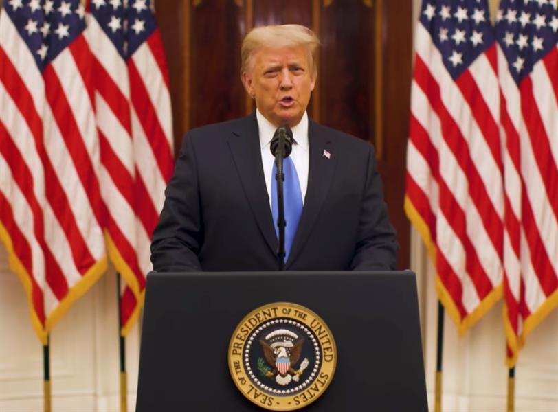 """ترامب في خطاب الوداع: """"حققنا ما جئنا لفعله ونصلي من أجل نجاح الإدارة الجديدة"""""""